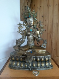 annedegruchy.co.uk image: shrine to Green Tara