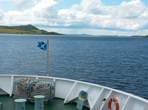 annedegruchy.co.uk image: Saltire flag on ferry